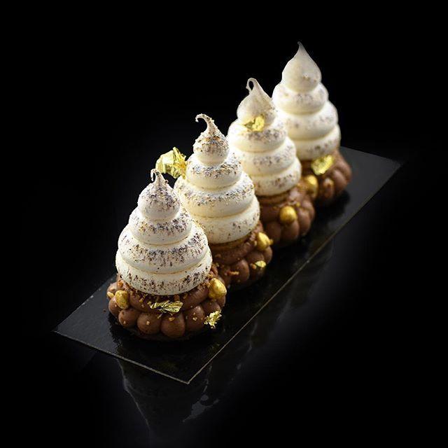 Buche Casse-Noisette  Photo @geraldinemartens  Sablée chocolat noisette fleur de sel/praliné feuillantine /ganache monter 66 %/compoté cassis /crémeux noisette /chantilly noisette torréfié / #noel#love #buche #pastry#chefstalk#cassenoisette#opera#paris#jeffreycagnes#food#igers#foodporn #instagood # #passion #patisserie