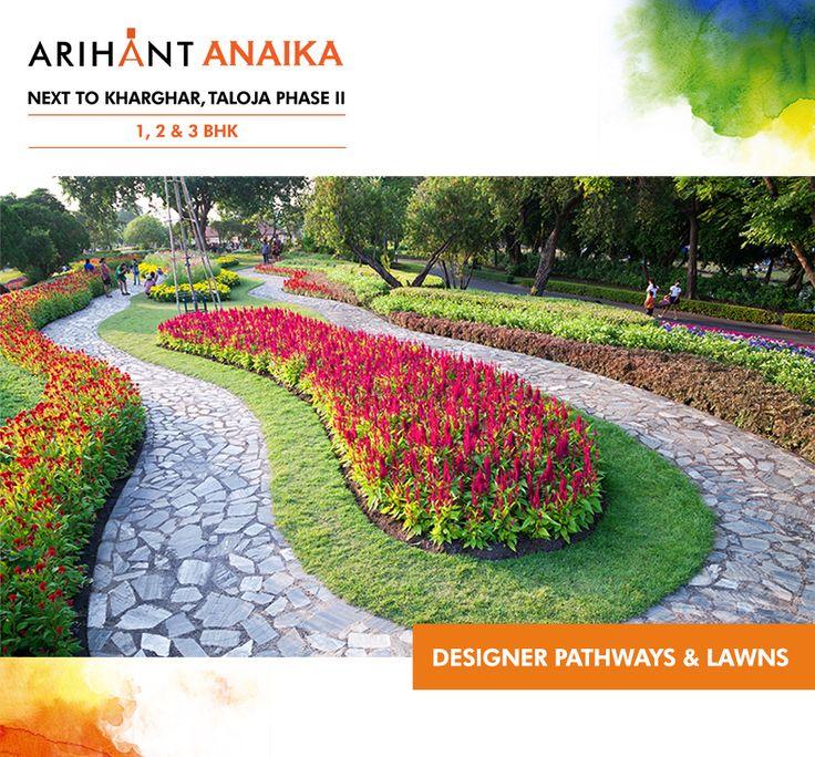 Arihant Anaika - Affordable housing in half the price of Kharghar Next to Kharghar, Taloja Phase II 1,2 & 3 BHK - Riverside County Designer Pathways And Lawns www.asl.net.in/arihant-anaika.html #ArihantAnaika #RealEstate #Kharghar #NaviMumbai #Property