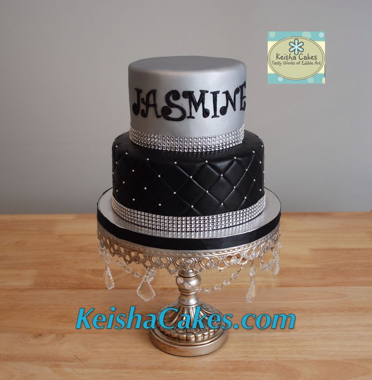 Silver Ball Cake Decorations Name Prepossessing 112 Best Keisha Cakes Images On Pinterest  Party Cakes Design Inspiration