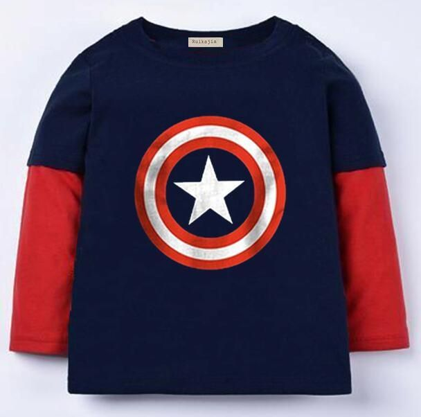 Nice Marvel's The Avengers T shirt superman, batman and spiderman t shirt girls Kids long Sleeve Tops girl T-shirt Tees 100%Cotton - $ - Buy it Now!