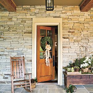 Rustic Cottage Holiday Decor | Greet Guests | SouthernLiving.com