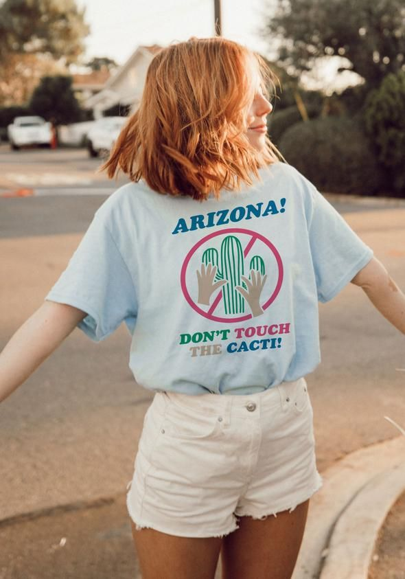 2a529c4912 Don't Touch the Cacti Tee in 2019   da wave   Tees, Graphic tees ...