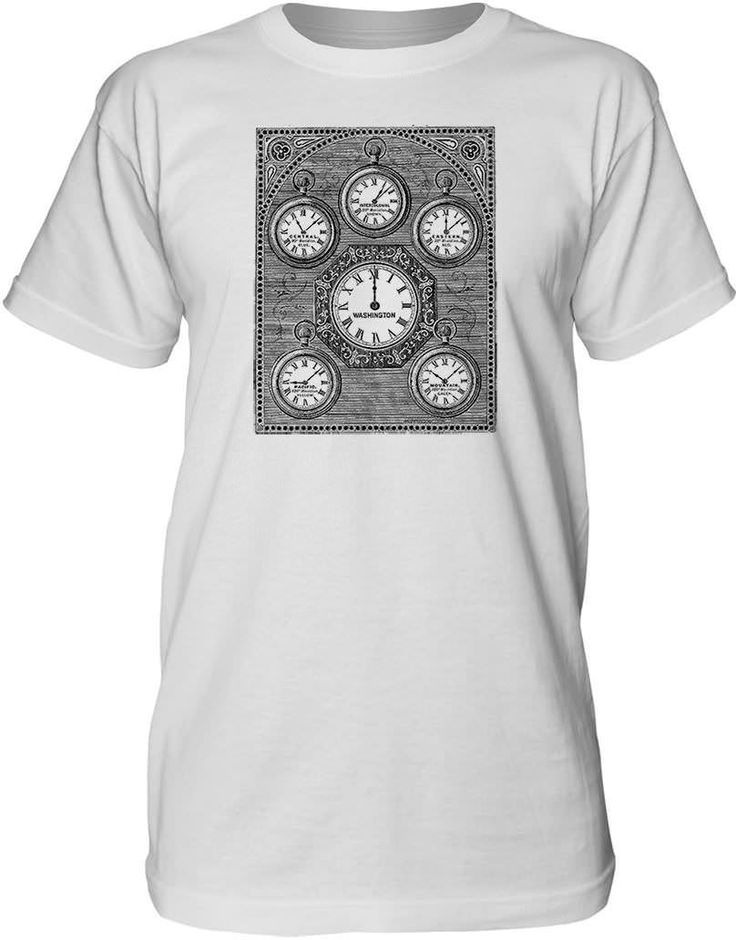 Mintage Antique International Clock Mens Fine Jersey Tall T-Shirt