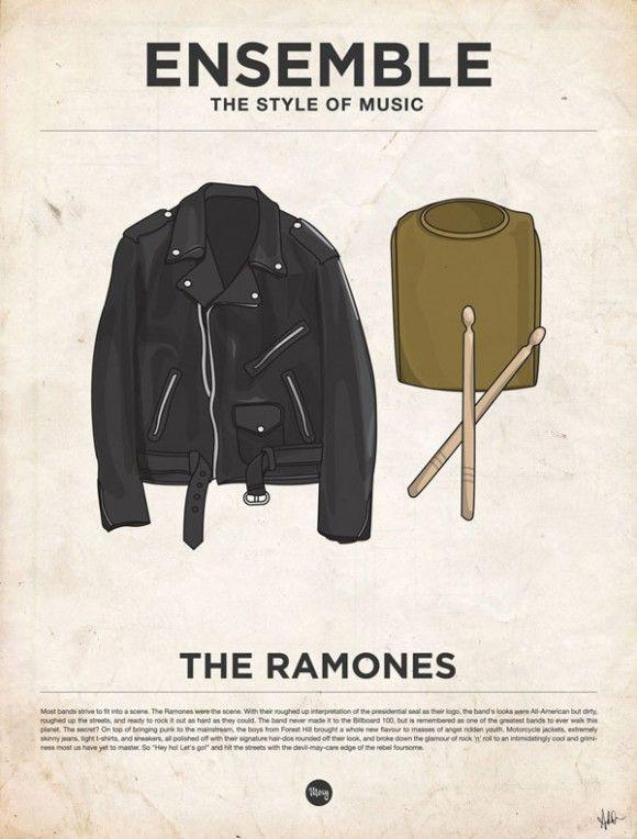 Musique, affiches minimalistes et vêtements vetements habits musique poster affiche minimaliste 20 design