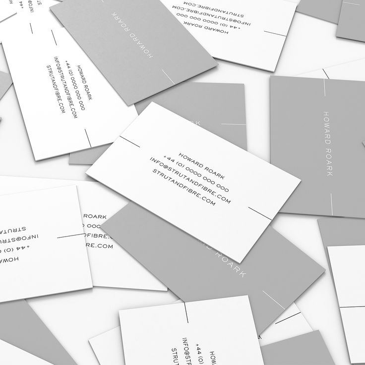 Roark – one of our Minimal business card templates available to customise and order on our site.