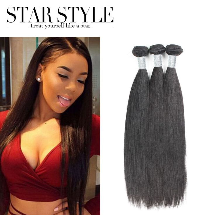 7A Grade Straight Brazilian Hair Free Shipping 3pcs Star Style Hair Brazilian Virgin Hair 100%  Human Hair Weaving No Tangle