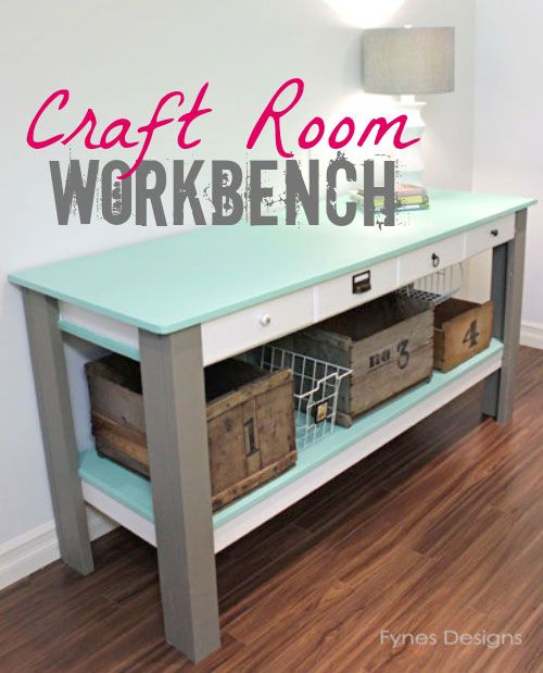 Love this craft table!! great idea for craft storage