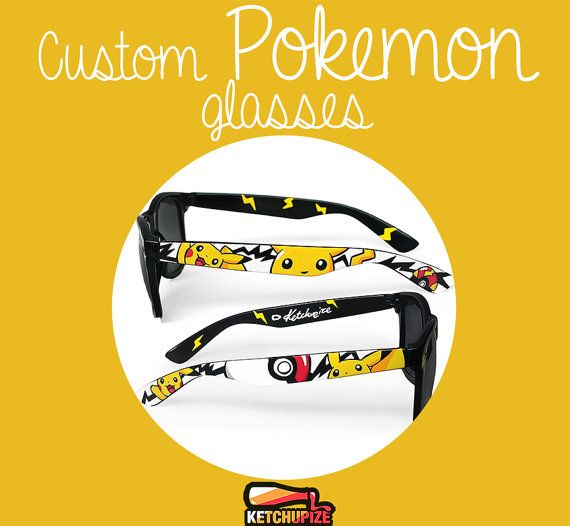 Custom made Pokemon Sunglasses or Glasses  hand by ketchupize