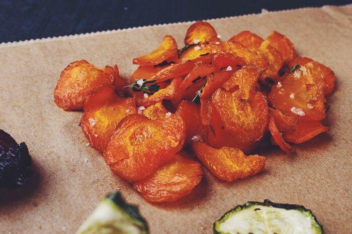 Gemüsechips selbstgemacht! Einfach gesund snacken: Mohrüben Karotten Chips