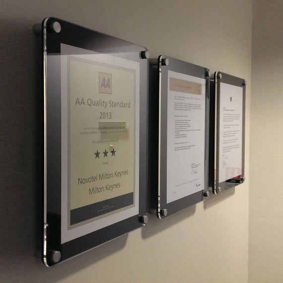 Wall Mounting Perspex Certificate Frame Achievement Wall Etsy In 2020 Certificate Frames Diploma Display Wall Diploma Display