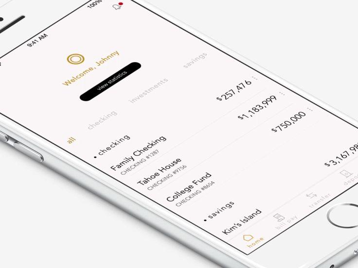 Dribbble - Concept of a Bank App by Mariya Yukhimenko