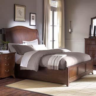 Cherry Grove Queen Sleigh Bed With Footboard Storage By American Drew