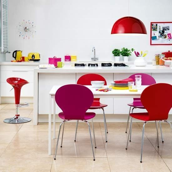 hot pink - colors - modern - kitchen