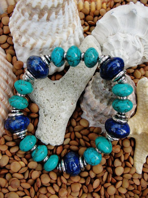 Lapis Lazuli and Turquoise Bracelet
