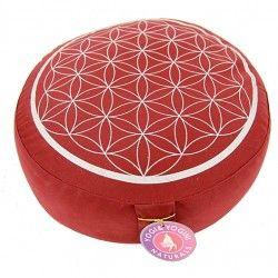 Poduszka do medytacji - Kwiat Życia/ czerwona