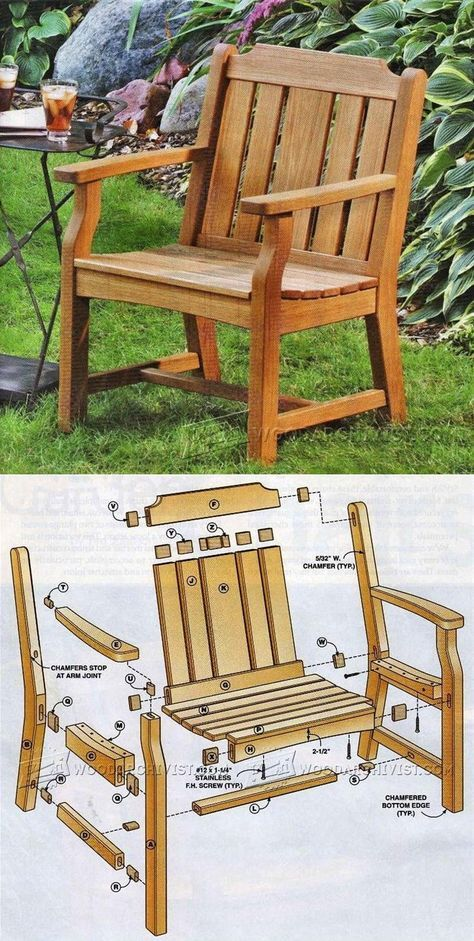 Garden Chair Plans - Outdoor Furniture Plans & Projects | WoodArchivist.com