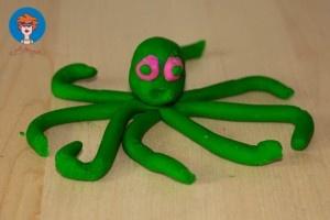 Octopus van klei....iets andere versie maar wel leuk!