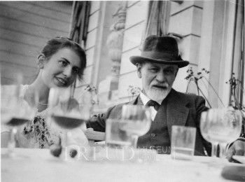 Anna Freud and Sigmund Freud (1920) Psychoanalytic Conference Location: Netherlands, Hague