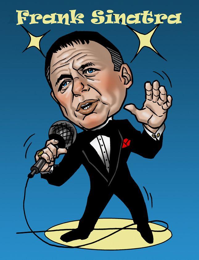 Caricature of Frank Sinatra: