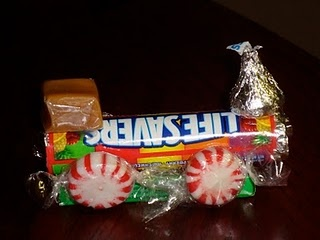 Candy Train - fun idea for train themed goody bags or decoration!