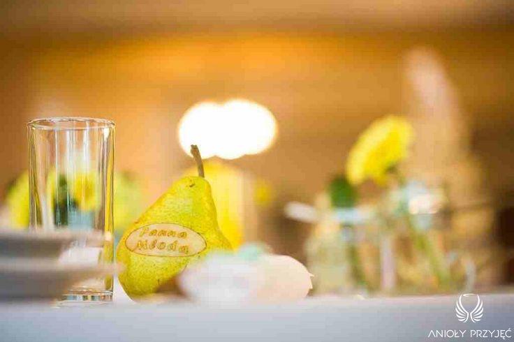 8. Green Wedding,Table decor,Fruits vignettes  / Wesele w zieleni,Owocowe winietki,Anioły Przyjęć