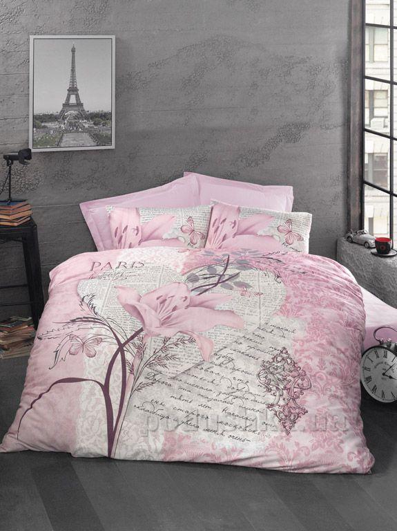Постельное белье Luoca Patisca ранфорс Arte Bella розовое