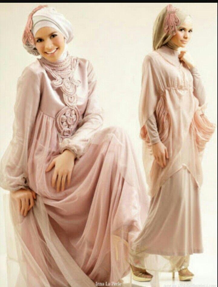 Pudra Pembesi Tesettür Abiye Elbise - Pudra Rengi #pudra #tesettür #abiye #elbise #modelleri www.abiyeelbisemodelleri.com