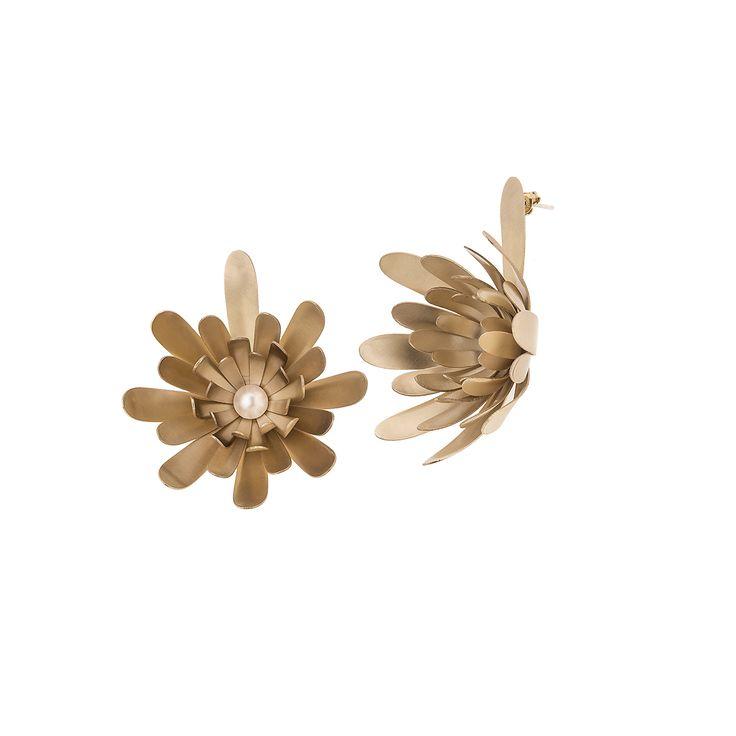 Kolczyki | Plantis PLK48-2 | ORSKA - ręcznie wykonana, unikatowa biżuteria. Autorskie i artystyczne projekty Anny Orskiej