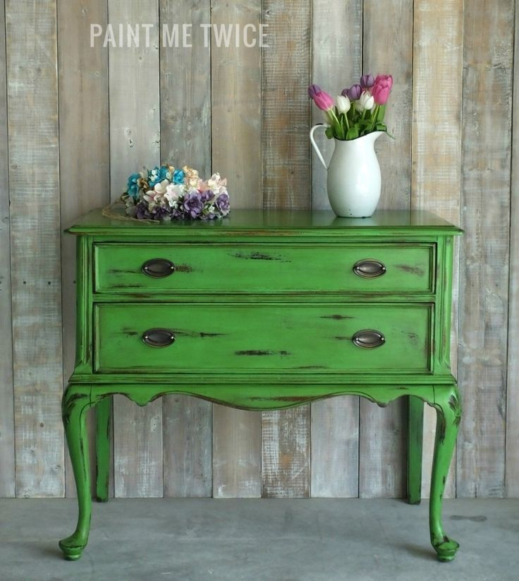 Server redo with Antibes Green Chalk Paint® and Dark Soft Wax | Paint Me Twice