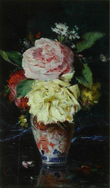Theodor Aman - Vas cu flori
