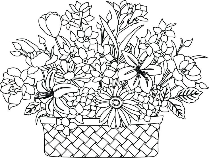 печатные картинки с цветами смешать содой
