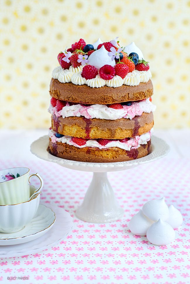 This totally summery Eton Mess cake is a show stopper - perfect for birthdays and celebrations and yet so easy to make!