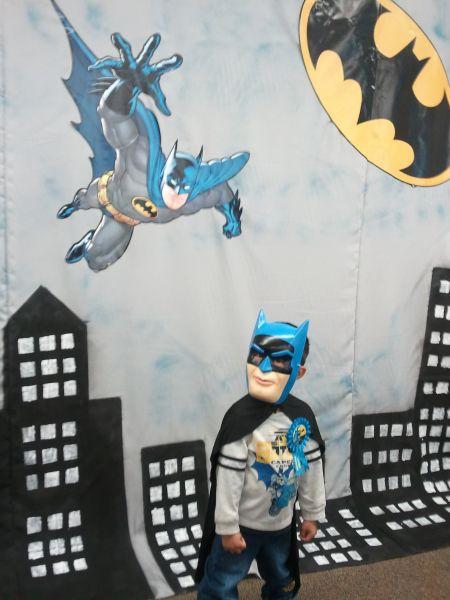 Batman party - Ian in costume