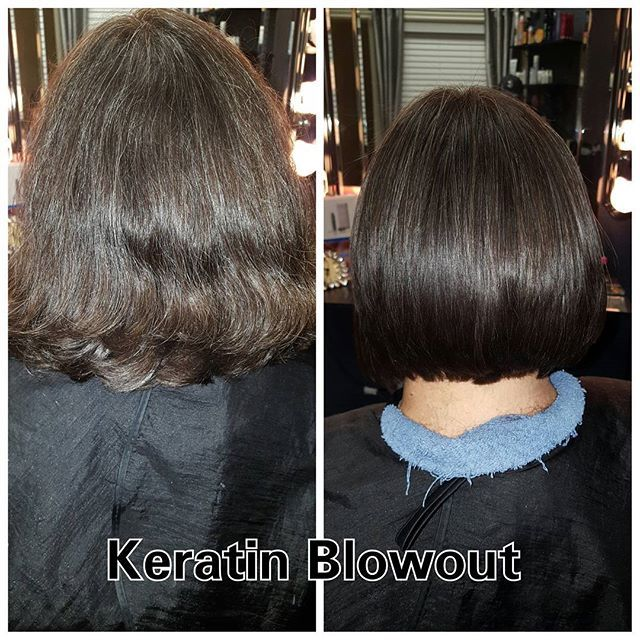 GK Keratin blowout with haircut. Straighten and smooth your hair for up to 6mo! Call 972-890-6121 for appt. #hairtrendsbyjessica #keratin #gkkeratin #smoothingtreatment