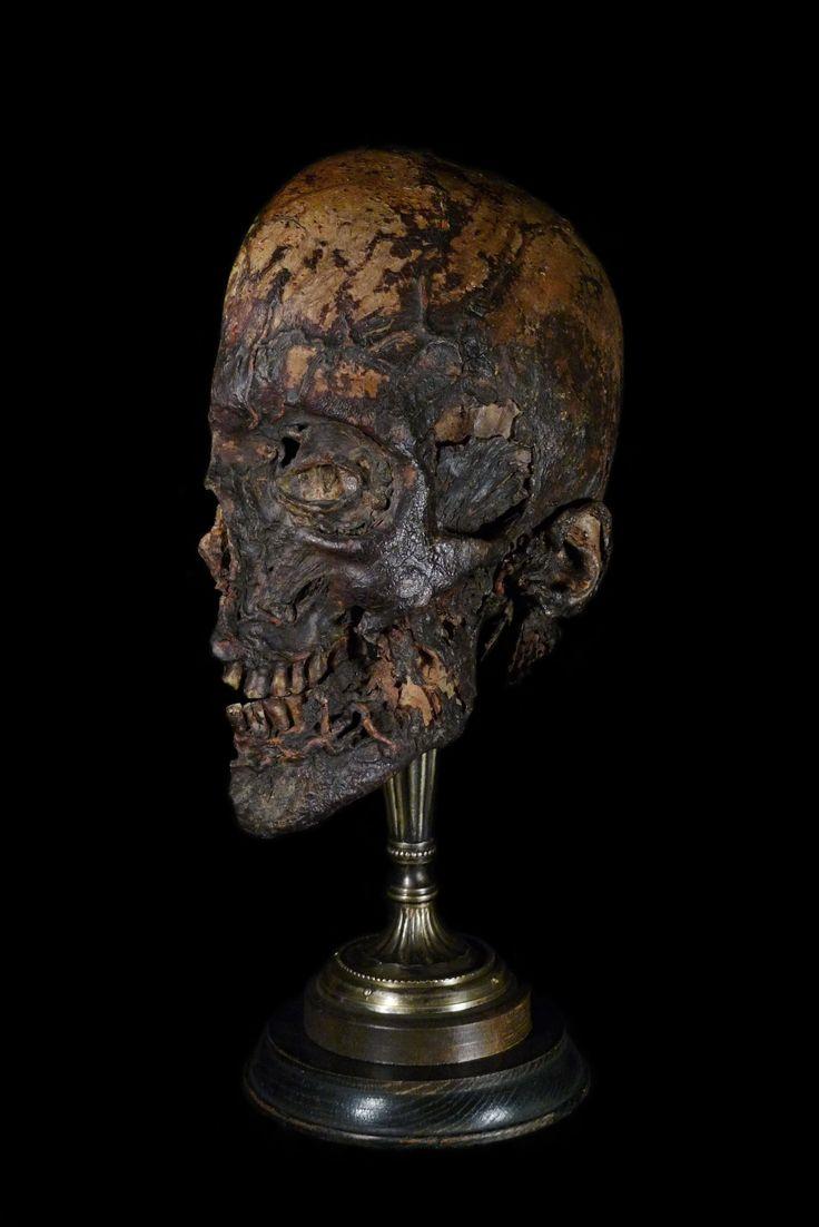 Half of a Mummified Human Head. Mounted by Ryan Matthew.