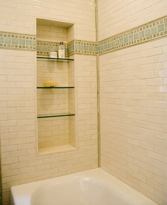 94 best images about bathroom niches shelving storage on pinterest - Tiling Designs For Small Bathrooms