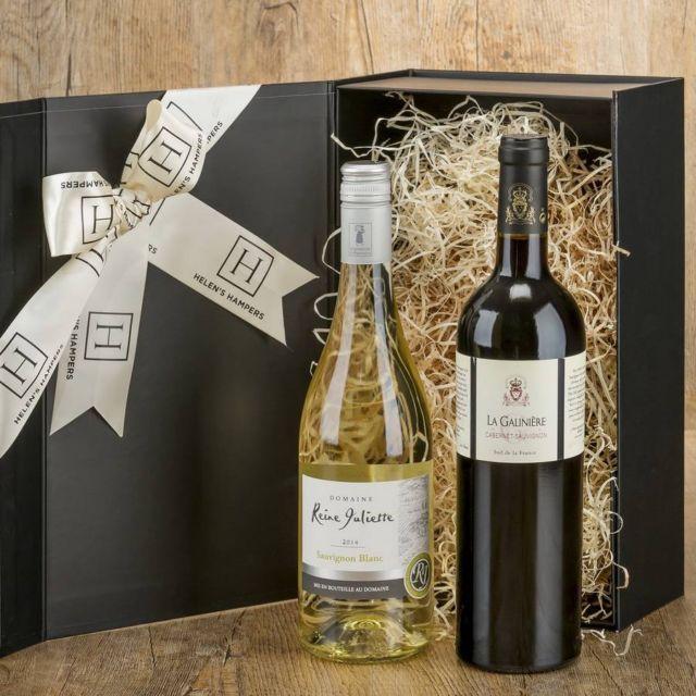 Helen's Hampers Double Wine Hamper   Hilary Rhodes on WeShop