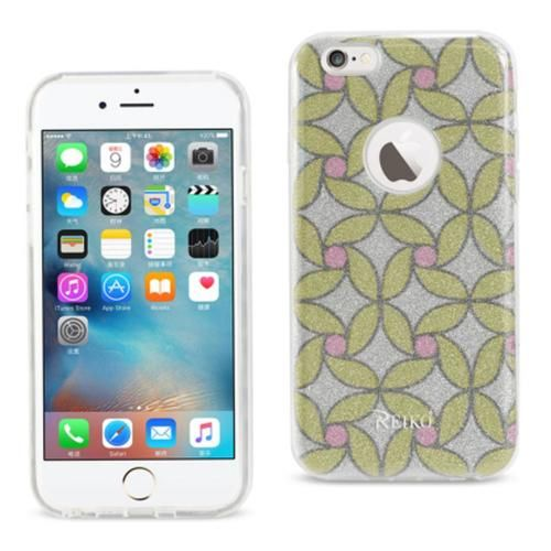 Reiko iPhone 6/6s 4.7inch Bumper Design TPU case Flower Patter Gol PC + TPU Case
