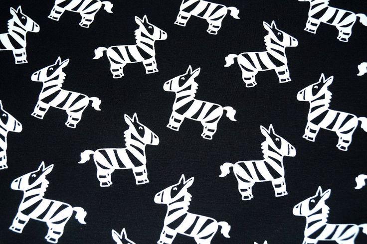 NB16 9830-069 Tricot zebra zwart