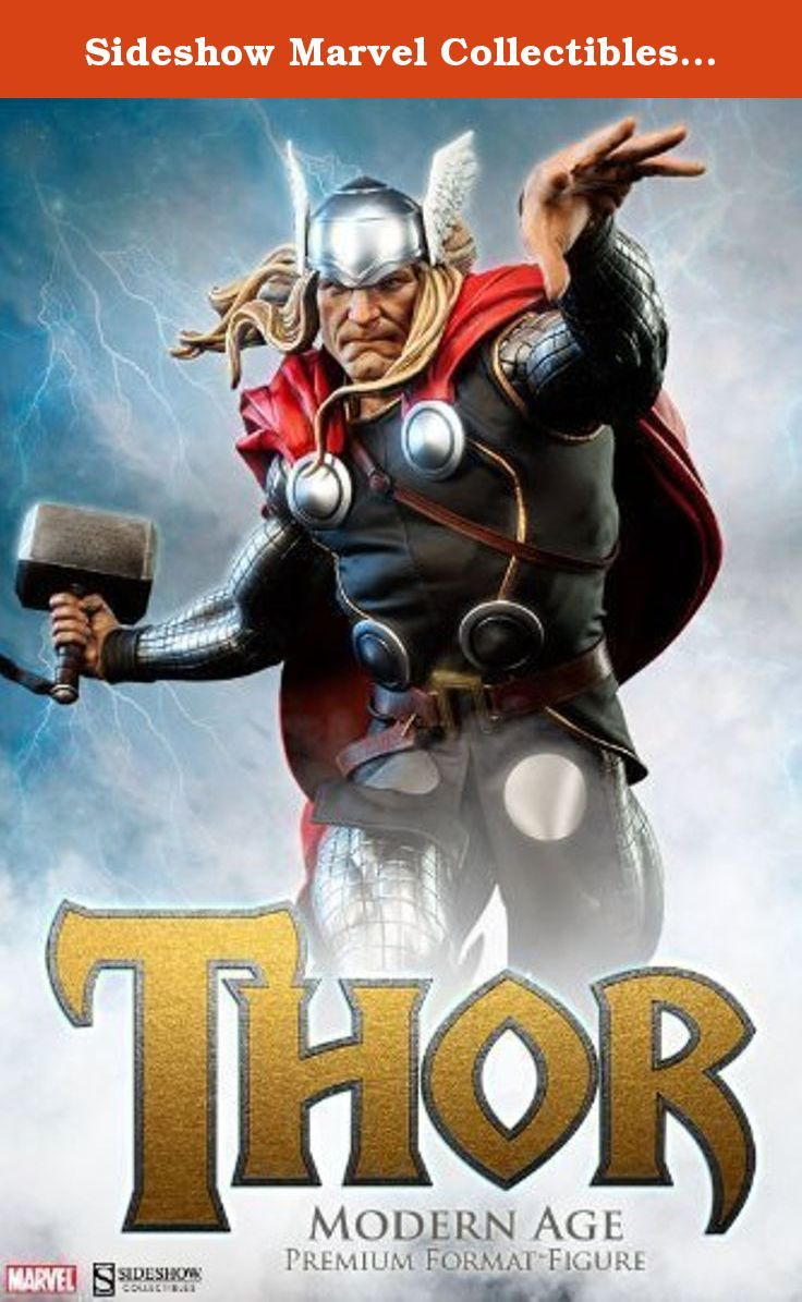 """Sideshow Marvel Collectibles Modern Age Thor Premium Format Figure Statue. """"I am Thor! Son of Odin, God of Thunder!"""" From the pages of Marvel Comics, Sideshow Collectibles is proud to celebrate Thor's contemporary look with the Thor Modern Age Premium Format Figure. A champion among gods and men, and one of Earth's Mightiest Heroes, the Asgardian Avenger is renowned across the Nine Worlds for his bravery, strength and fury. Inspired by the costume designs defined by Marvel artist Olivier..."""