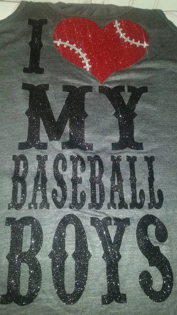 I heart my baseball boys glitter and sparkle shirt features a large design done in the colors you choose. I use only high quality glitter that is