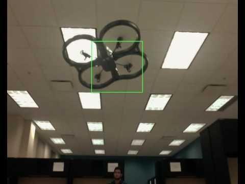 nice Tracking Parrot AR.Drone 2.0 Using OpenCV haar casecade