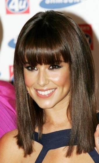 21+ Ideas Hairstyles Straight Shoulder Length Bangs