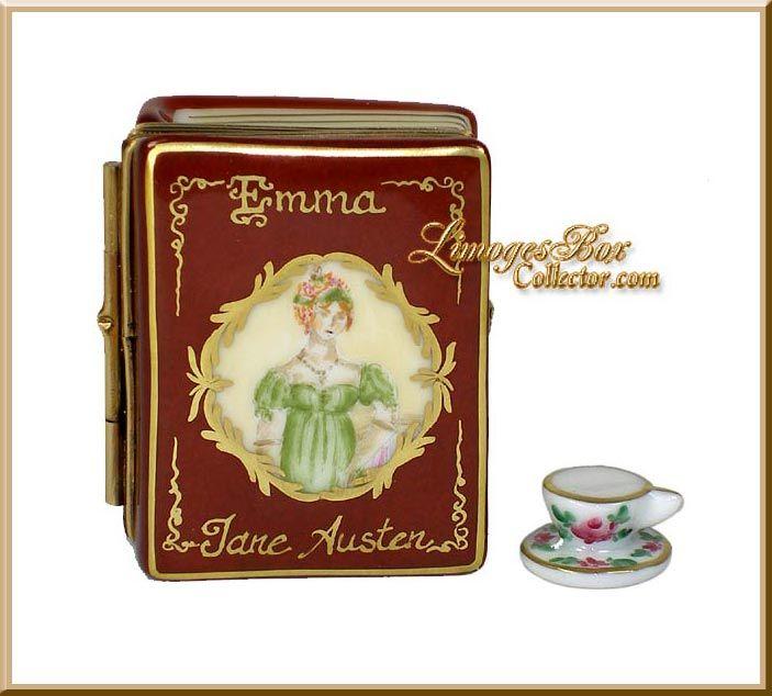 Jane Austen Emma Book Limoges box by Beauchamp Limoges www.LimogesBoxCollector.com