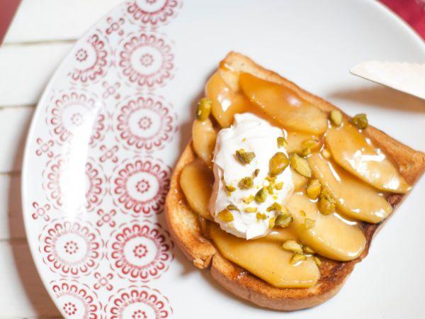Tartine pommes caramel
