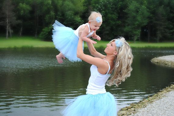 Mommy and Me matching tutus and heabdands