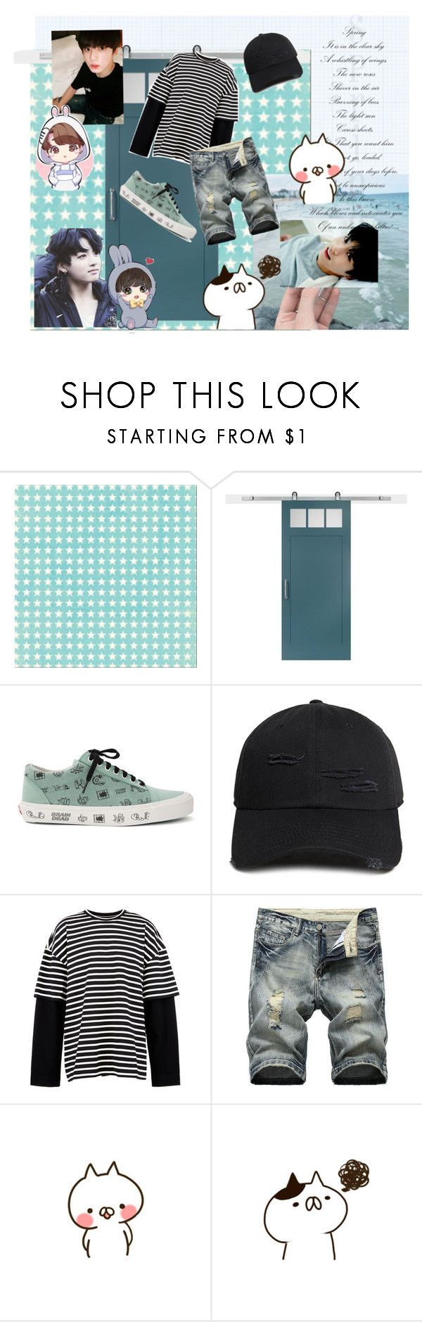 """""""Outfit of Jungkook Boyfriend"""" by gmoa123 ❤ liked on Polyvore featuring Craftsman, Vans, 21 Men, Juun.j, GET LOST, men's fashion and menswear"""