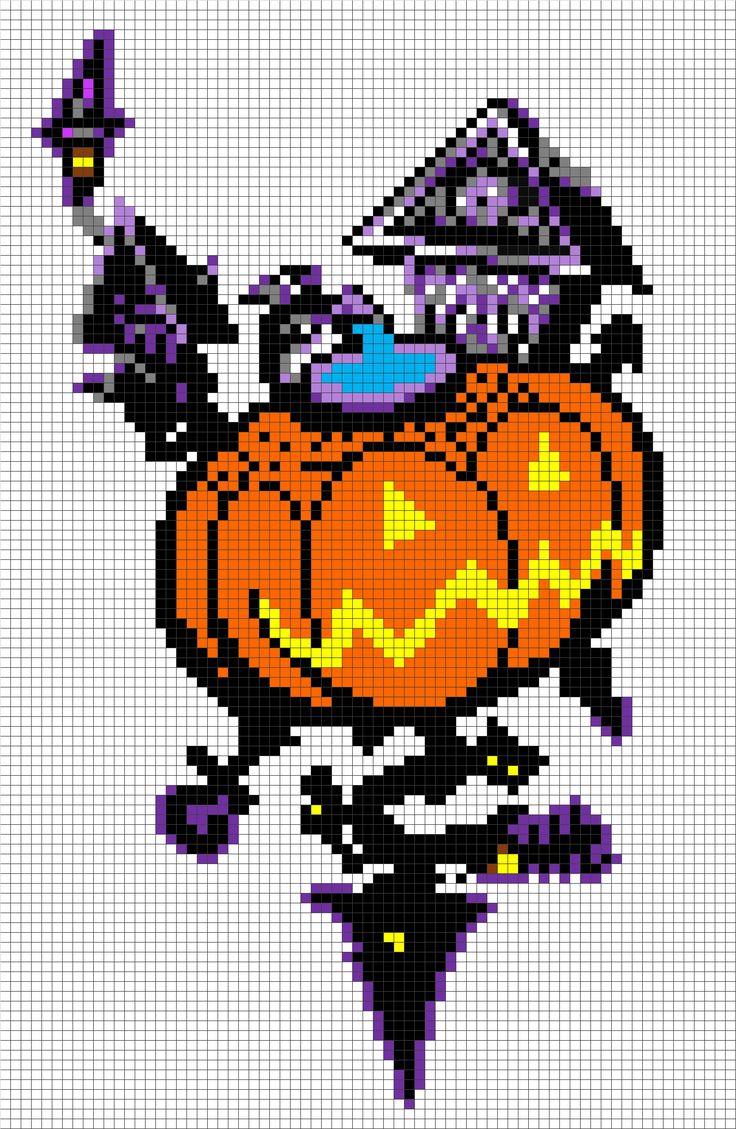 Halloween Pixel Art Templates