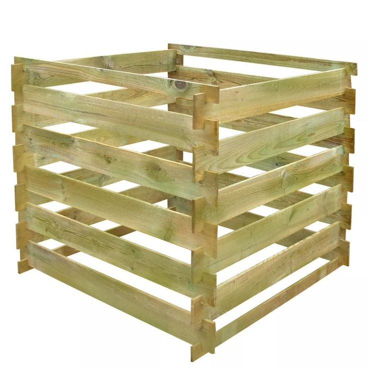 This wooden composter, with a total capacity of 0,54 m3, is a brilliant piece of recycling equipment and will blend naturally into any garden. Thanks to its slatted design, this compost bin not only stores garden waste tidily but also ensures good air circulation for composting, turning organic waste into useful nutrient-rich compost. Made of green impregnated pine wood, this wooden composter is very sturdy, durable, and rot-resistant. With this large garden compost bin, you will get the… Compost Bucket, Compost Tumbler, Wooden Compost Bin, Recycling Plant, Kitchen Waste, Garden Compost, Gardening, Recycled Garden, Wood Square