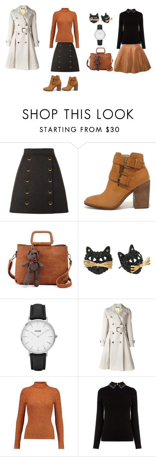 """Women set"" by tada-selo123 ❤ liked on Polyvore featuring Dolce&Gabbana, Steve Madden, Betsey Johnson, CLUSE, Moschino, Just Cavalli and Miu Miu"